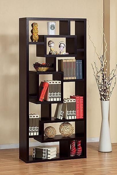 Bradshaw Unique Bookcase/Display Cabinet in Red Cocoa