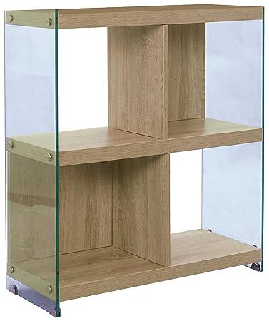 Tomasucci Nancy Estantería, 4compartimentos, madera, roble, 71x 30x 80cm