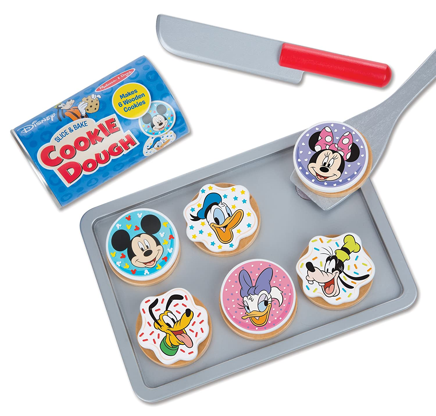 Make-Believe Baking Toy with Pretend Knife and Cookie Sheet Gift for Kids who Love Disney