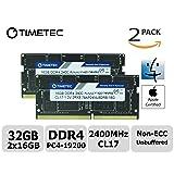 Timetec Hynix IC Apple 32GB Kit (2x16GB) DDR4 2400MHz PC4-19200 SODIMM Memory Upgrade for iMac Retina 4k/5K 21.5-inch/27-inch Mid 2017 (32GB Kit (2x16GB)) (Tamaño: 32GB Kit (2x16GB))