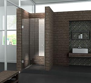 Walk In 8 mm Duschwand Duschabtrennung Nischentür Dusche 80 x 190 cm BASIC   Kritiken und weitere Informationen