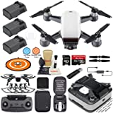 DJI Spark Drone Quadcopter (Alpine White) Elite Bundle with Remote Controller, Portable Charging Station, 3 Batteries, Charging Station Bag and MUST HAVE Accessories (Color: Alpine White, Tamaño: 3 Battery Elite Bundle W/ Charging Station)