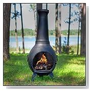 Cast Aluminum Prairie Chiminea Fire Pit