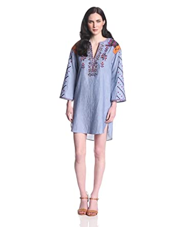 BCBGMAXAZRIA Women's Aveena Shirting Tunic Dress, Ltperiwinklecom, X-Small