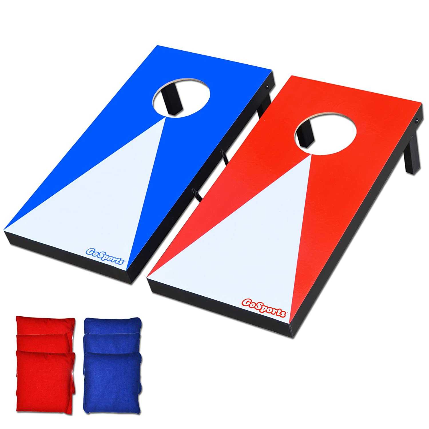 Cornhole Game Set Outdoor Toss Bean Bag Boards Hole