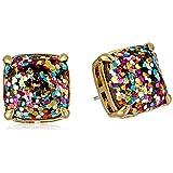 kate spade new york Small Square Multi-Stud Earrings (Color: Multi Glitter, Tamaño: One Size)