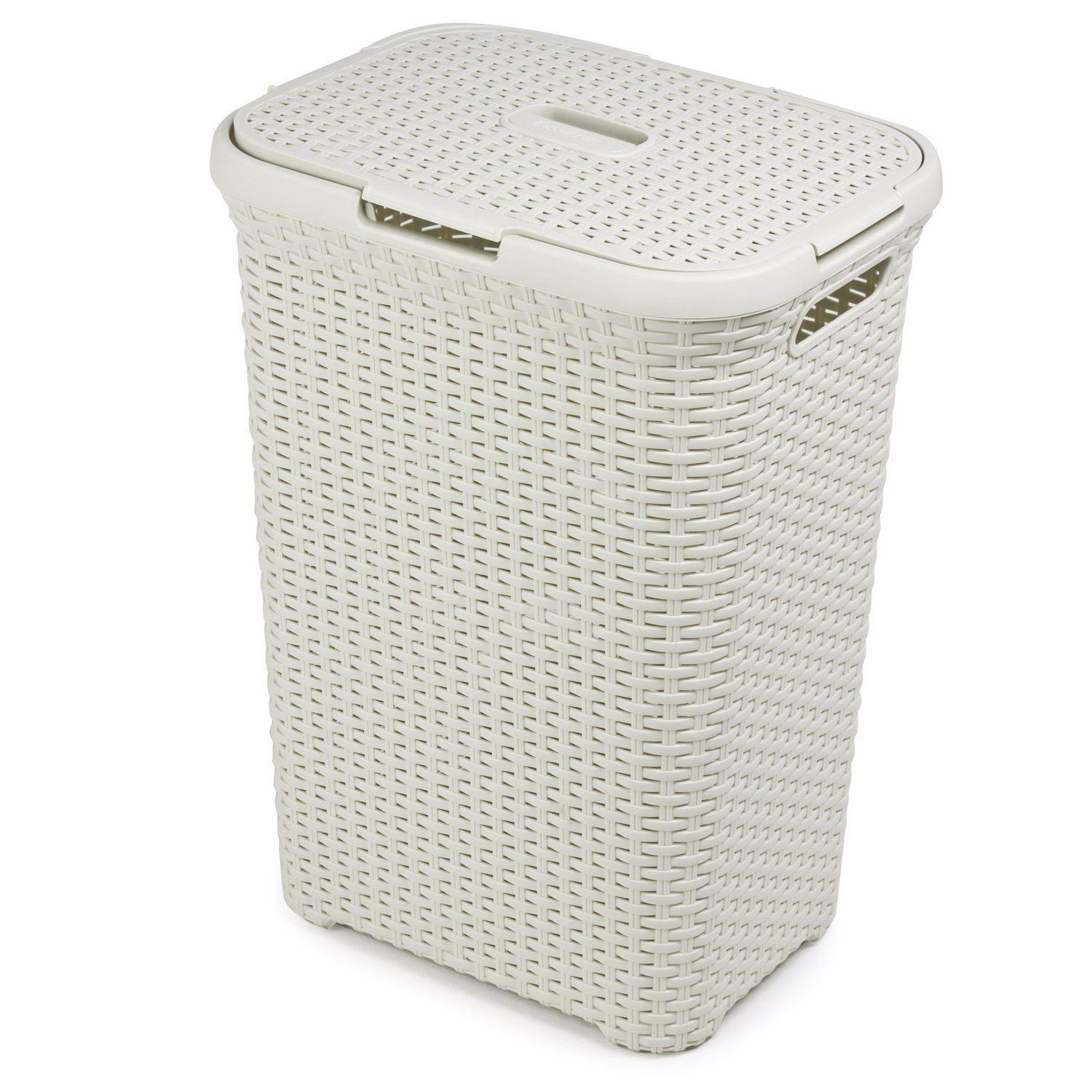 60 ltr rattan design laundry bin washing basket bucket hamper storage bag white ebay - Whites and darks laundry basket ...