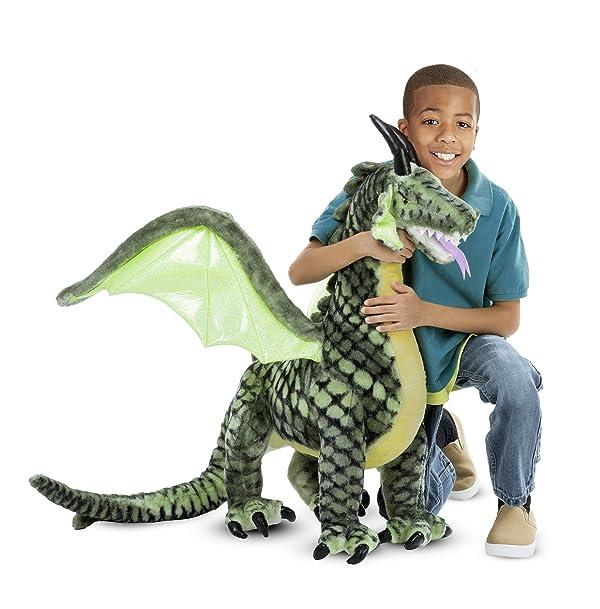 Melissa & Doug Winged Dragon-Plush Animal, 36 x 40.5 x 16 (Color: Multicolor, Tamaño: 36 x 40.5 x 16)