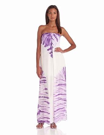 Young Fabulous & Broke Women's Karissa Strapless Carnivale Maxi Dress, Plum, X-Small