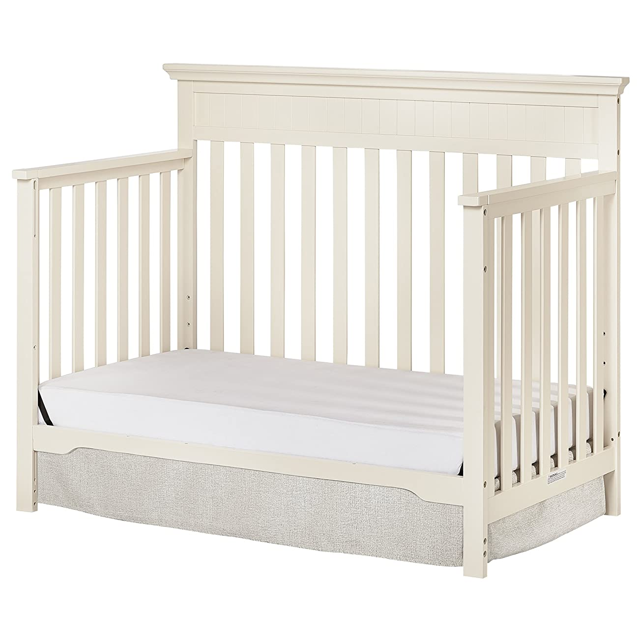 Dream On Me Chesapeake 5-In-1 Convertible Crib, French White 2