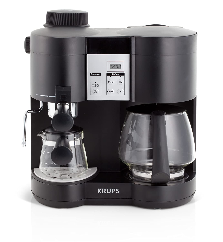 KRUPS XP160050 Coffee Maker and Espresso Machine Combination
