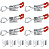 Anndason Toggle Latch Clamp 4001,150Kg 330Lbs Holding Capacity (6PCS) (Color: Silver)