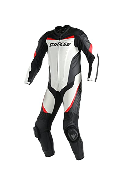 Dainese 1513424_777_52 TRacing P Estiva, Blanc/Noir/Rouge, Taille : 52