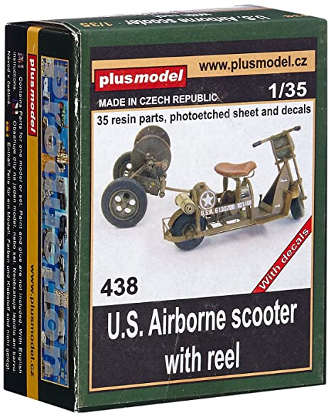 Maquette U.S. Airborne scooter with reel, 2ème GM