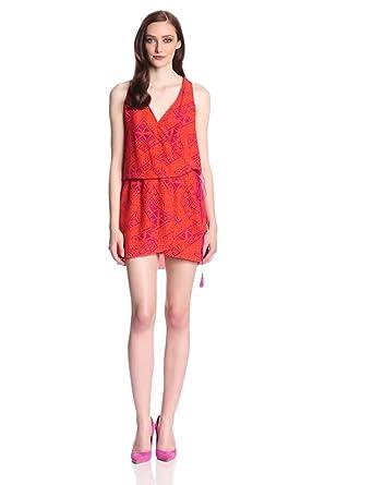 Dolce Vita Women's Nanaya Block Print Racerback Dress, Fuschia Print, Medium