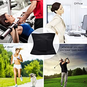 d7150ea17cb ... VENUZOR Waist Trainer Belt for Women - Waist Cincher Trimmer - Slimming  Body Shaper Belt -