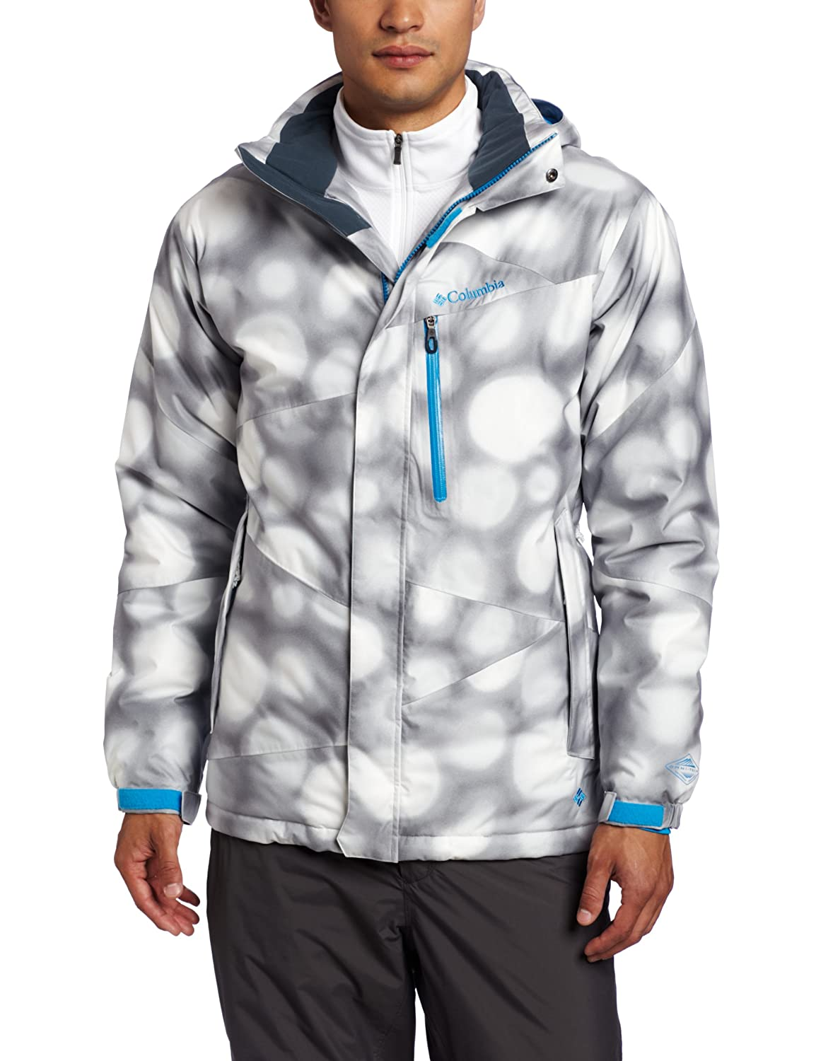 Columbia Men's Alpine Action Jungen Jacke L Weiß - Sea Salt Bubbles Print