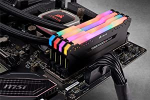 Corsair RGB PRO 32GB (4x8GB) DDR4 2933 (PC4-23400) C16 Desktop Memory - Black (CMW32GX4M4Z2933C16) (Color: RGB PRO - Black, Tamaño: 32GB (4x8GB))