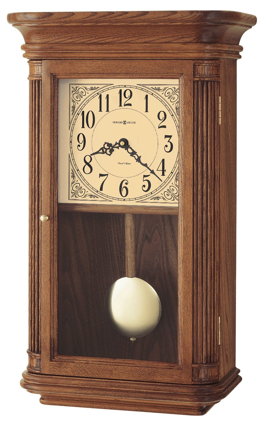 Homeware furniture home accessories clocks wall clocks elliot new howard miller westbrook 625 281 quartz wall clock oak dual chime amipublicfo Choice Image