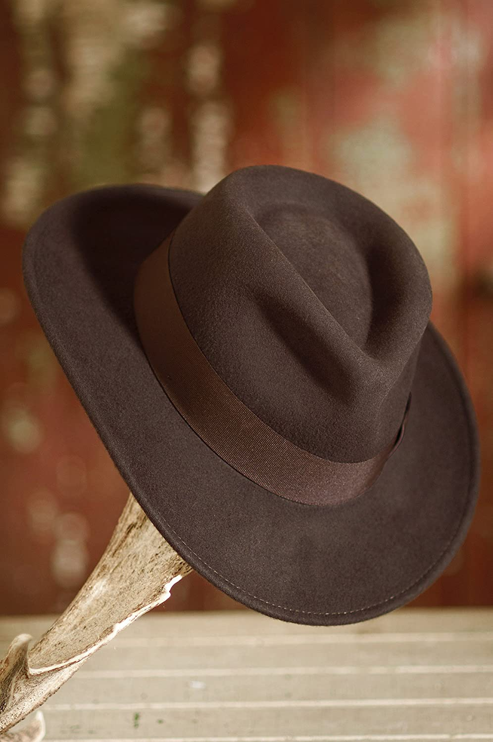 Indiana Jones Crushable Wool Fedora Hat Indiana Jones Crushable Wool