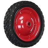 Shepherd Hardware 9593 7-Inch Semi-Pneumatic Rubber Tire, Steel Hub with Grafoil Bearings, Diamond Tread, 1/2-Inch Bore Offset Axle (Color: Black, Tamaño: 7-Inch)