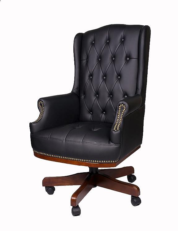 Sedia per dirigenti, per scrivania ufficio, in pelle di poliuretano