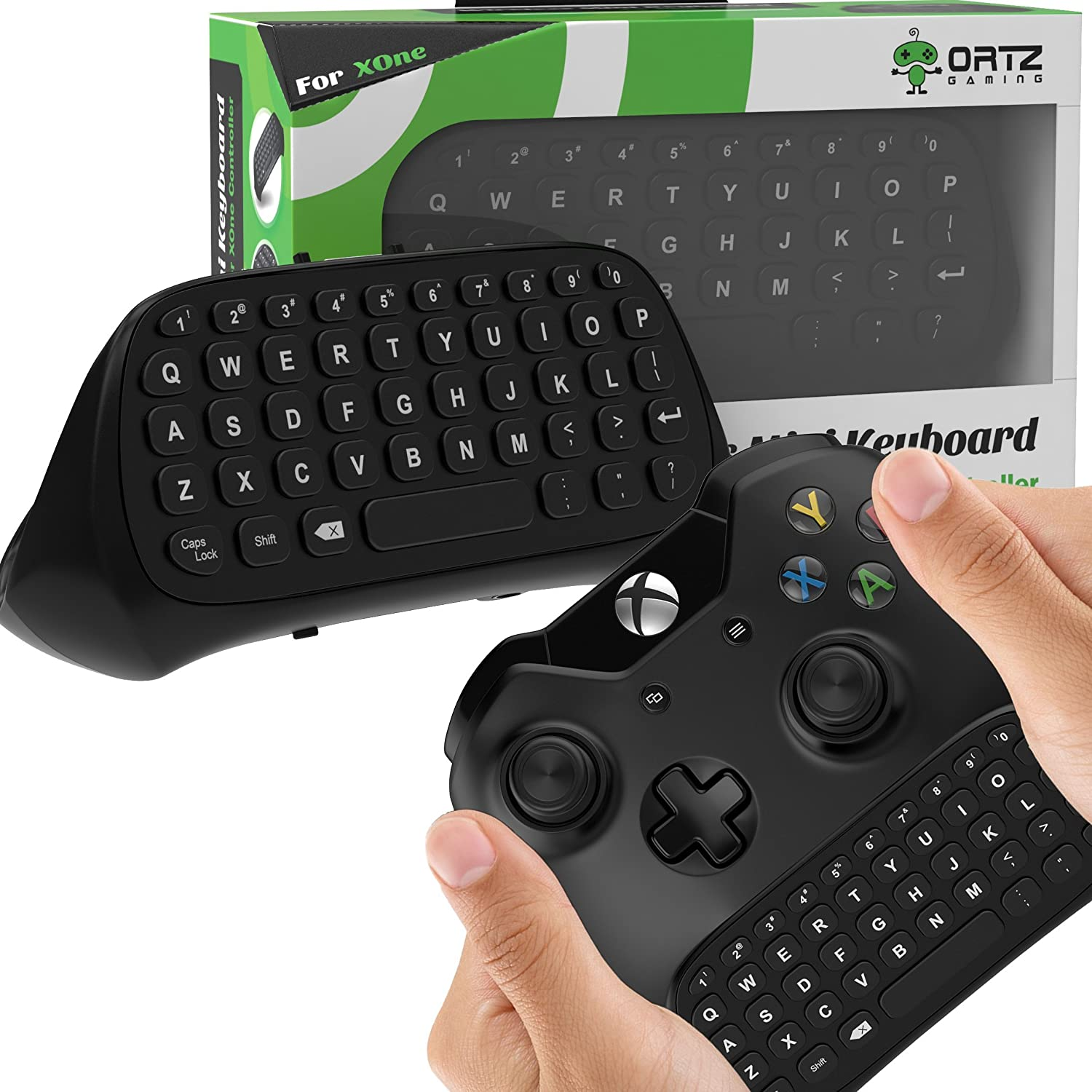 Ortz Xbox One Chatpad Keyboard KeyPad (with Headset/Audio Jack) Best for Wireless Chat - Built in USB Receiver for Xbox One Game Controller - Easy Sync with your Controller