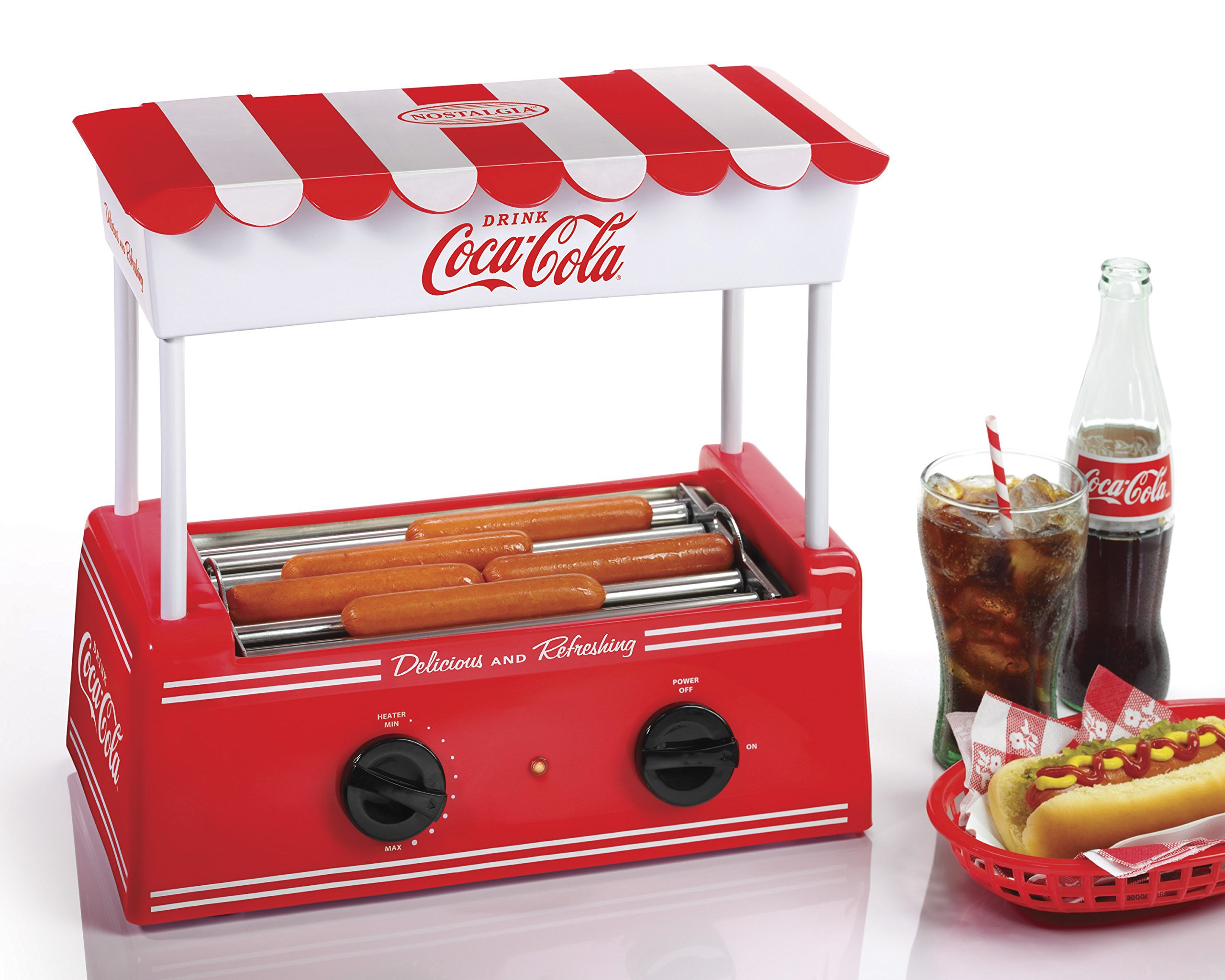 Coca Cola Nostalgia Hot Dog Roller Bun Warmer