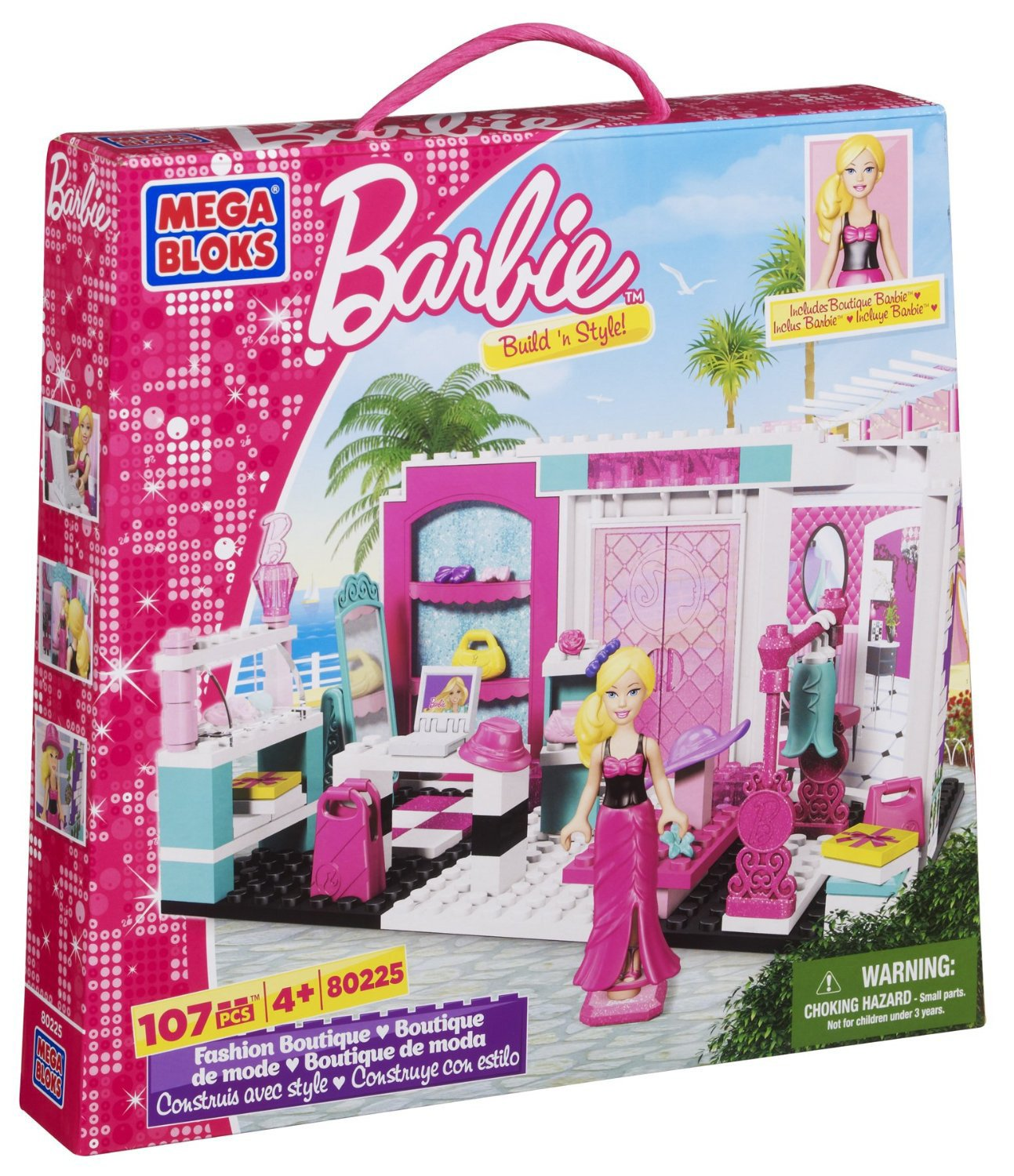 Mega Bloks Barbie Fashion Boutique Barbie Doll House Like Lego Amazon com Mega Bloks Barbie