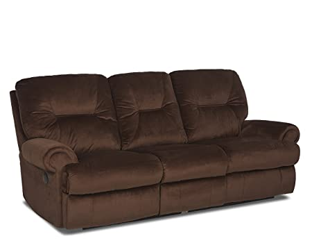 Klaussner Roadster Reclining Sofa, Russet