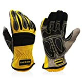 Intra-FIT Impressive Extrication Gloves, Cut Resistant Work Gloves, Protective Oil and Water Repellent, Yellow (Color: 7905L, Tamaño: 7905L)