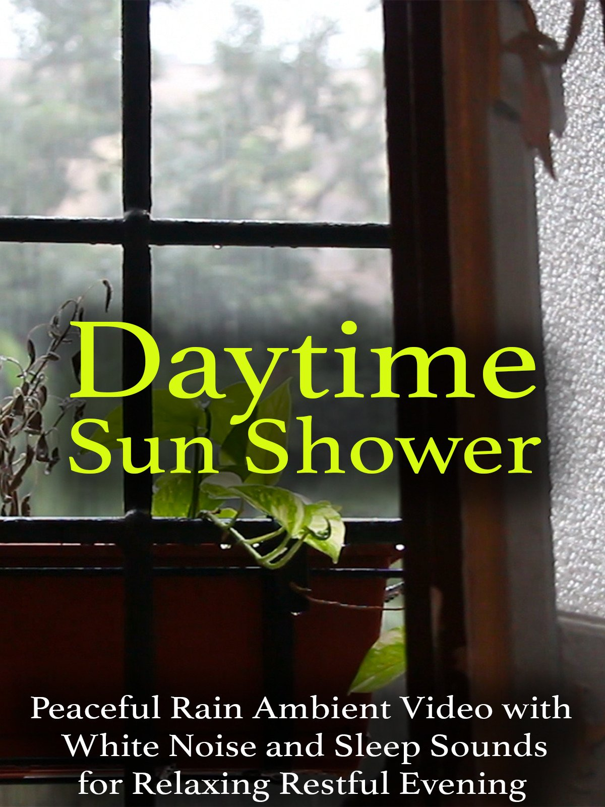Daytime Sun Shower Peaceful Rain Ambient Video with White Noise and Sleep Sounds for Relaxing Restful Evening