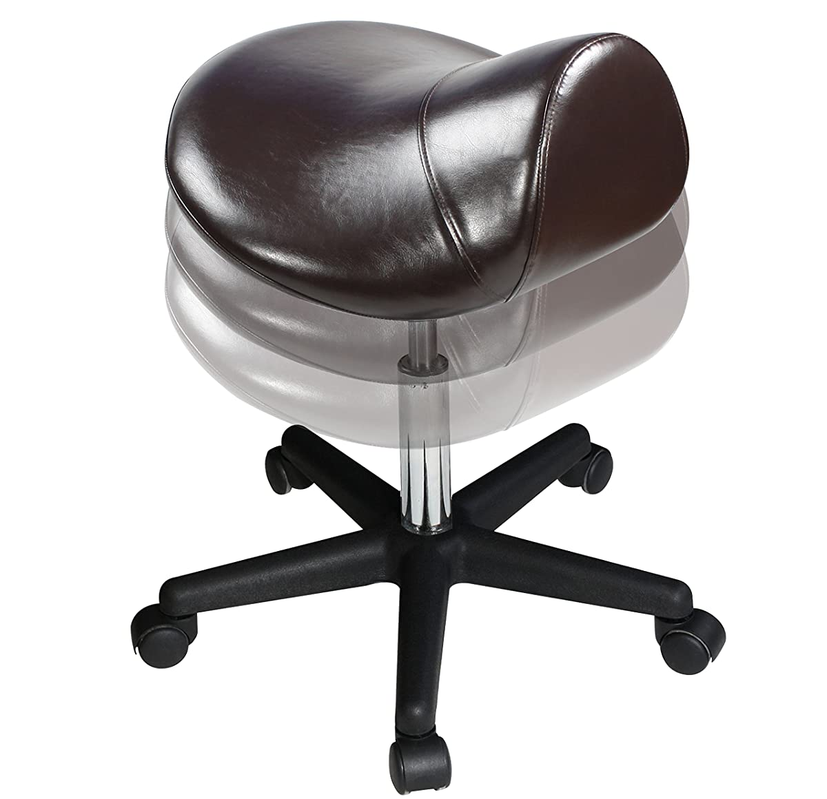 Master Massage Saddle Stool with NanoSkin Upholstery, Coffee