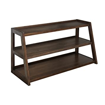 Simpli Home Sawhorse TV Stand, Medium Saddle Brown