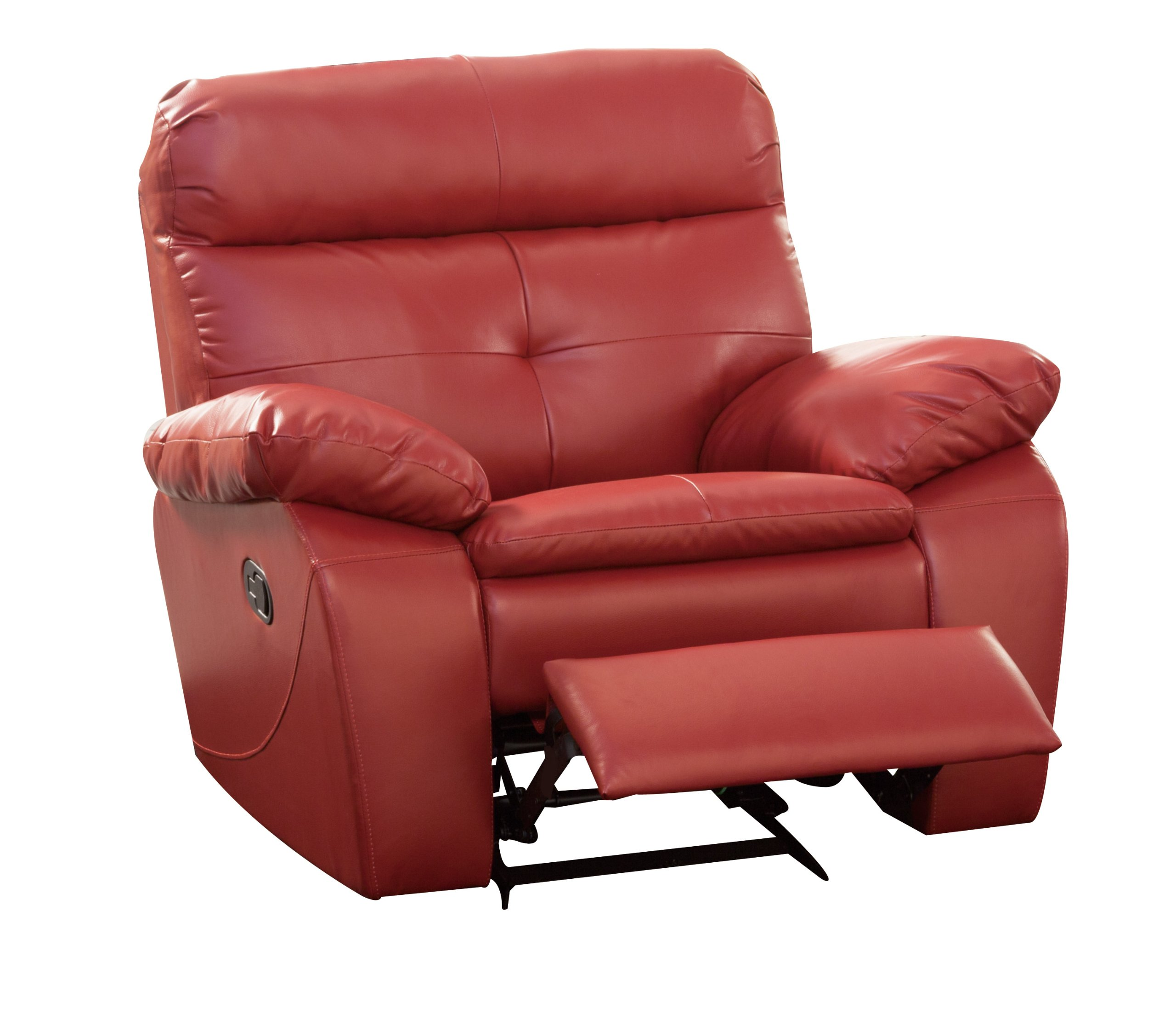 Homelegance 9604red 1 Wallace Glider Recliner Chair Lava