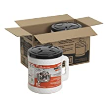"""Brawny Industrial 20040 Orange Premium All-Purpose Refillable Dry Wiper System, 13"""" Length x 9.9"""" Width, 200-Count Bucket, Case of 2"""