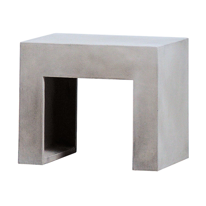 Beton-Hocker grau 46 x 40 cm jetzt kaufen