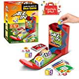 Dice Card Game, PinSpace All In Board Game Family Party Travel Fun Game Set for Kids Ages 6 and Up, 56 Cards 32 Chips 3 Dice (Color: Dice Card Game)