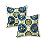 Greendale Home Fashions 17 in. Outdoor Accent Pillow (set of 2), Summer (Color: Summer, Tamaño: 17X17)