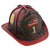 Authentic Firefighter's Helmet Piggy Bank -a perfect hand-painted gift for your special firefighter!