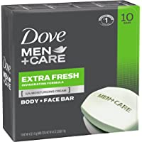 10-Count Dove Men+Care Body and Face Bar, Extra Fresh 4 oz,