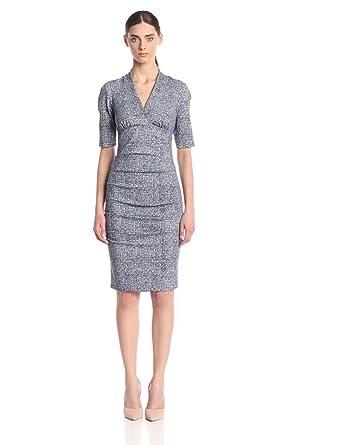 Nicole Miller Women's Joss Mesh Print Ponte Dress at Amazon Women's