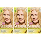 Garnier Nutrisse Nourishing Hair Color Creme, 90 Light Natural Blonde (Macadamia), 3 Count  (Packaging May Vary) (Color: 90 Light Natural Blonde (Macadamia), Tamaño: 3 Count)