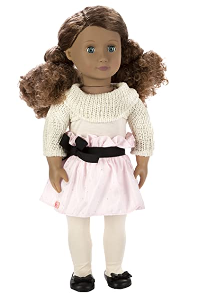 Our Generation Kaylee 18-Inch Doll with Curly Hair, Blue Eyes, and Darling Outfit by Our Generation