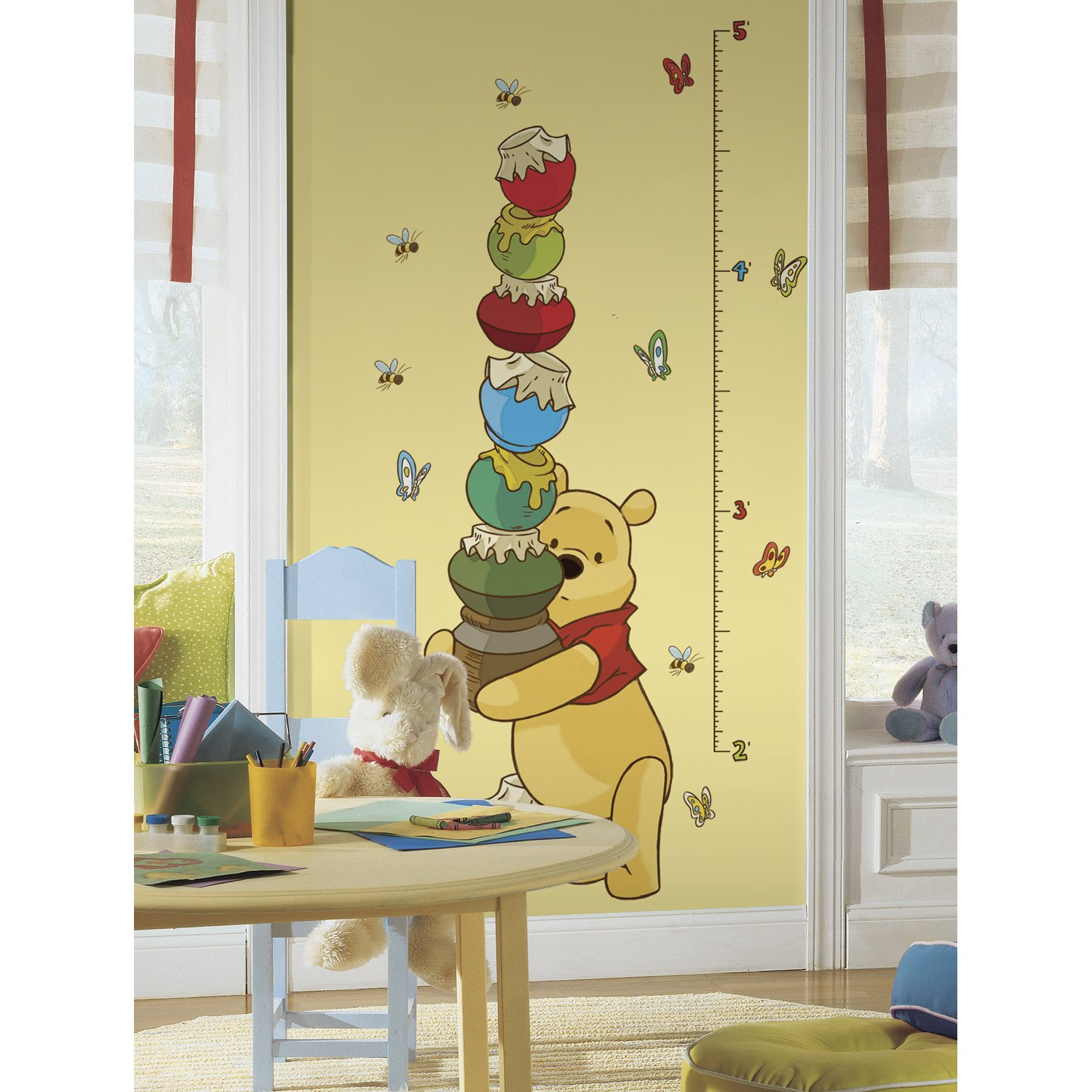 Simply diy nursery wall decals and stickers pooh and friends peel and stick growth chart wall decal amipublicfo Gallery