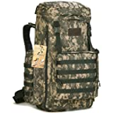 CREATOR 70-85L Large Capacity Tactical Travel Backpack MOLLE Hiking Rucksack Outdoor Travel Bag Assault Pack for Travelling Trekking Camping Hiking Hunting & Sports Events - ACU Digital (Color: ACU Digital)
