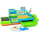 Boley Kids Toy Cash Register - Pretend Play Educational Toy Cash Register With Electronic Sounds, Play Money, Grocery Toy and More! (Color: Blue)