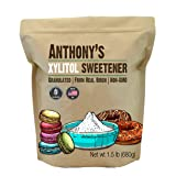 Anthony's Xylitol Sweetener (1.5lb) Made from Birch, Batch Tested Gluten Free, Keto Friendly, Non-GMO, Product of USA (Tamaño: Xylitol 1.5lb)