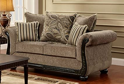 Chelsea Home Furniture Carol Loveseat, Dream Java