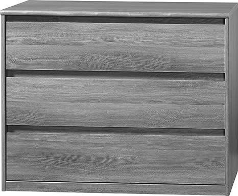 CS Schmalmöbel 75.074.074/12 Grifflose Kommode Soft Plus Smart Typ 12, 45 x 106 x 84 cm, silbereiche